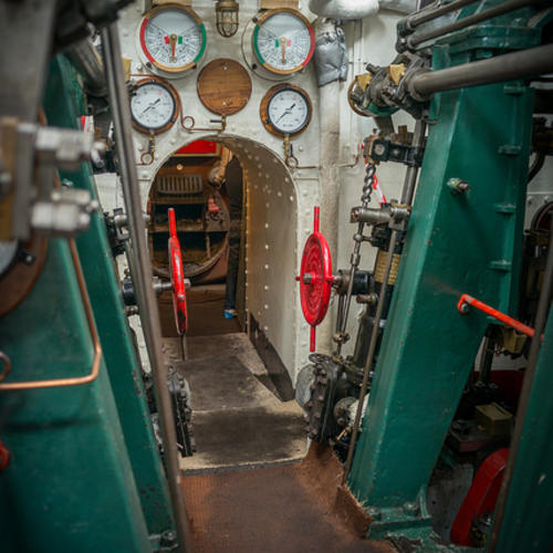 The engine rooms